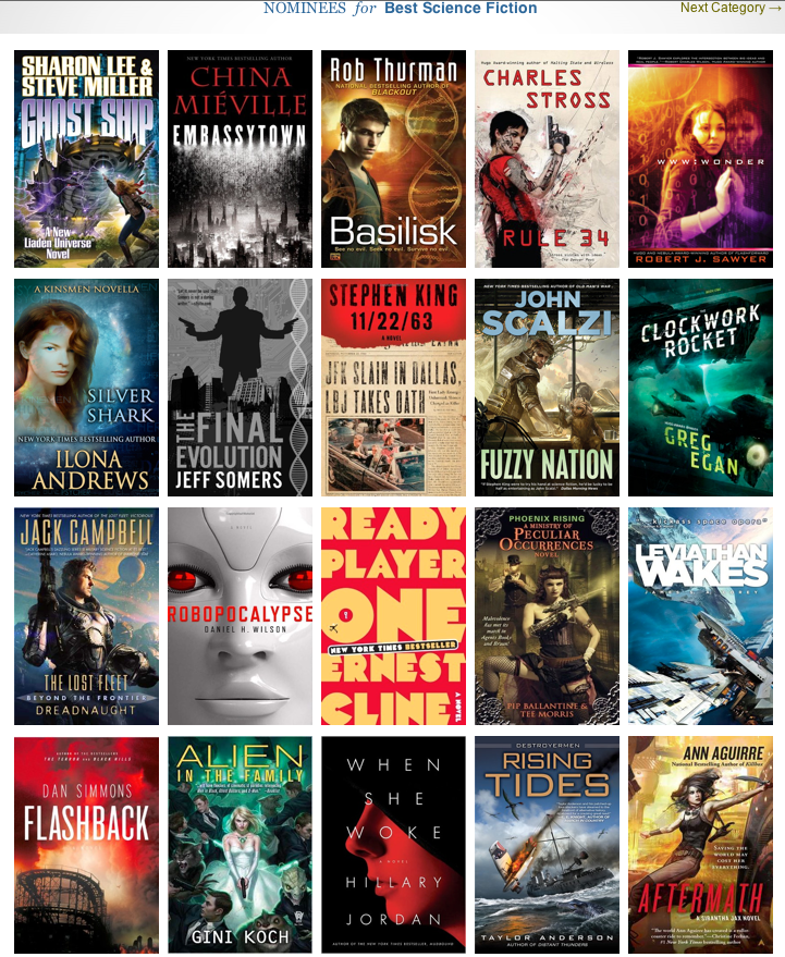 Goodreads Semifinalists for Best Science Fiction of 2011
